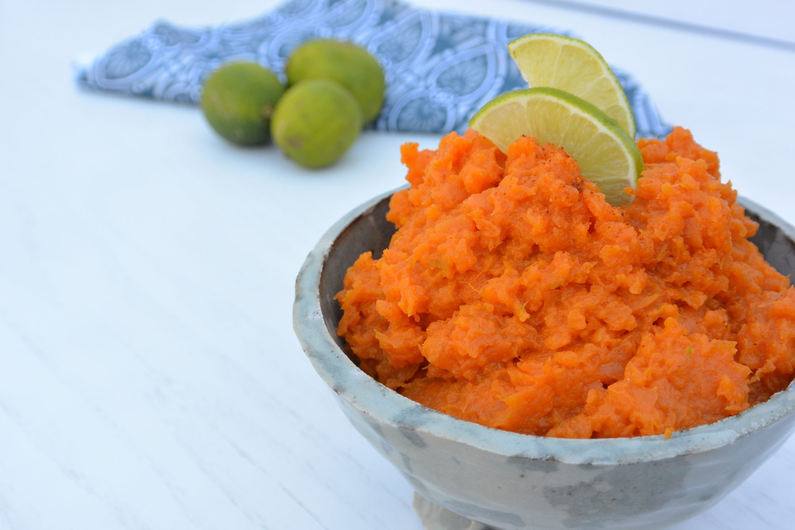 Spicy Lime Sweet Potato Mash by The Colacino Kitchen c 2021