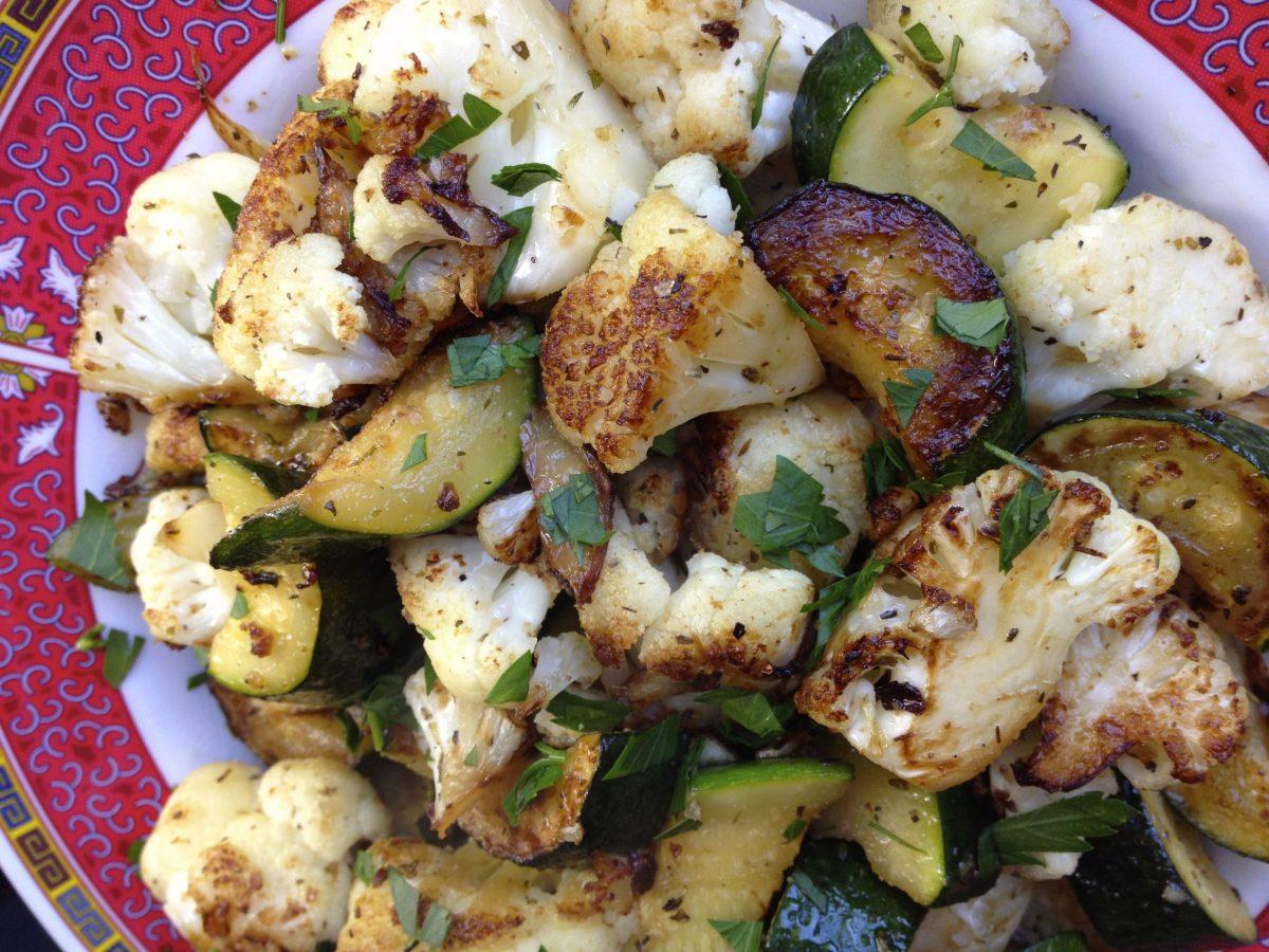 Pan-Roasted Cauliflower & Zucchini | The Colacino Kitchen c 2021