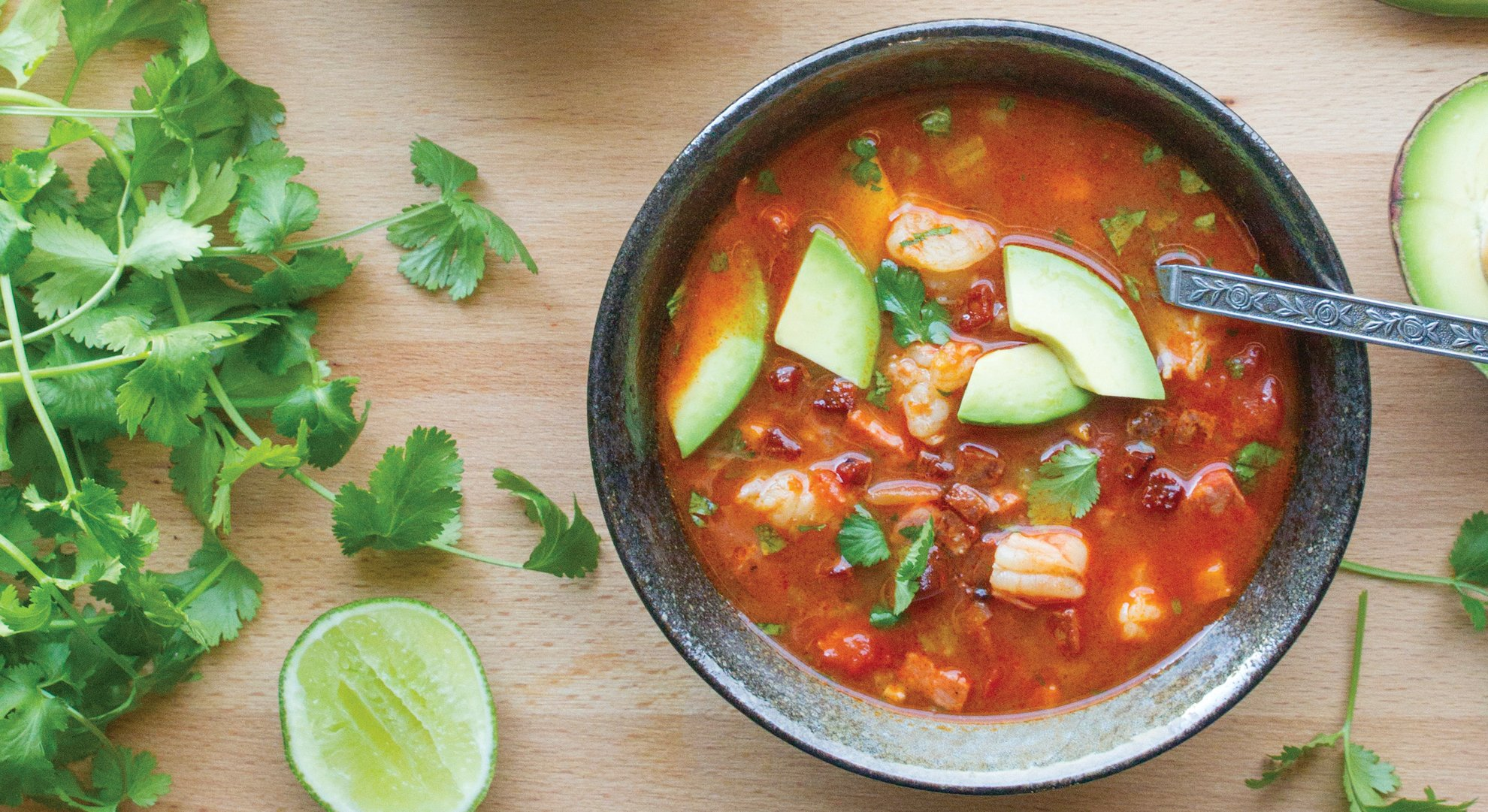 Spicy Shrimp & Chorizo Soup by The Colacino Kitchen c 2021