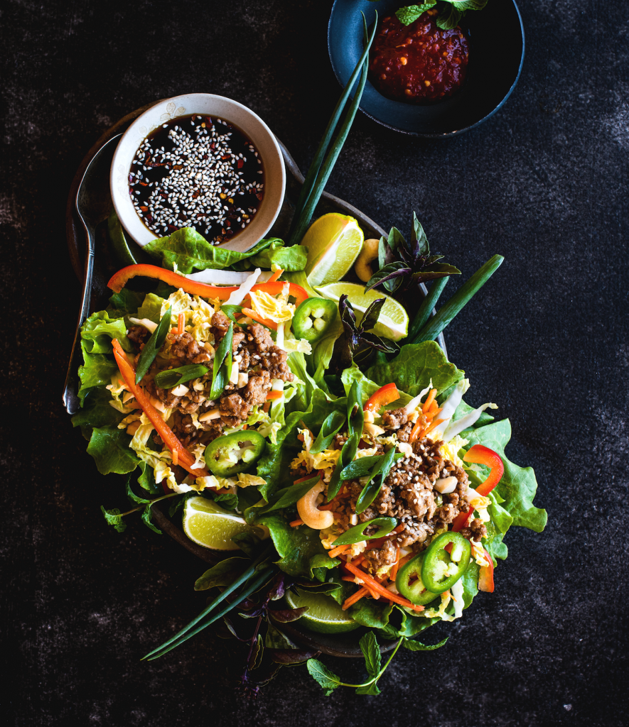 Five Spice Lettuce Cups in The Frugal Paleo Cookbook by Ciarra Colacino