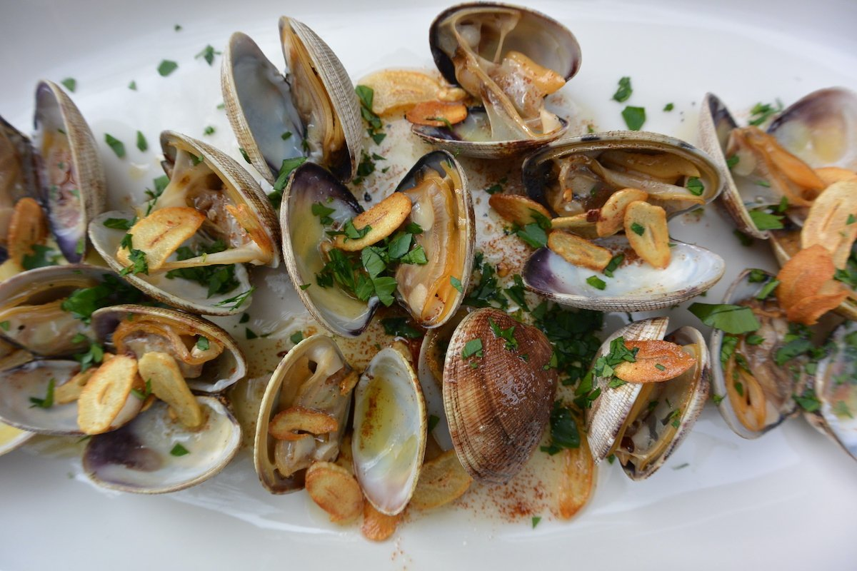 Grilled Clams with Crispy Garlic | The Colacino Kitchen (c) 2021