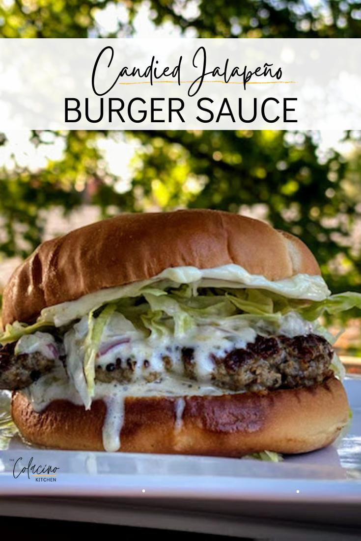 Candied Jalapeño Burger Sauce